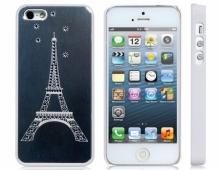 Пластмасов калъф за iPhone 5/5s с огледален ефект Айфелова кула