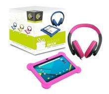 РОЗОВ Детски таблет Point of View Kids 7 инча, Quad Core, 1Gb, Android 5.1 + Калъф + Слушалки