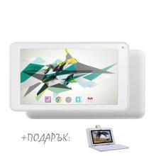 Бял таблет 7 инча QuadColor White, 16GB + БЯЛА КЛАВИАТУРА подарък