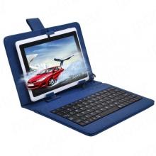 """ПРОМОЦИЯ!!! Кожен калъф с клавиатура за таблети 7"""" с micro USB - 7 цвята"""