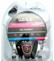 Слушалки с микрофон 2 в 1 WEILE WL 908MV