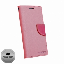Кожен луксозен калъф за SAMSUNG S4 Розов тип папка GoosPery