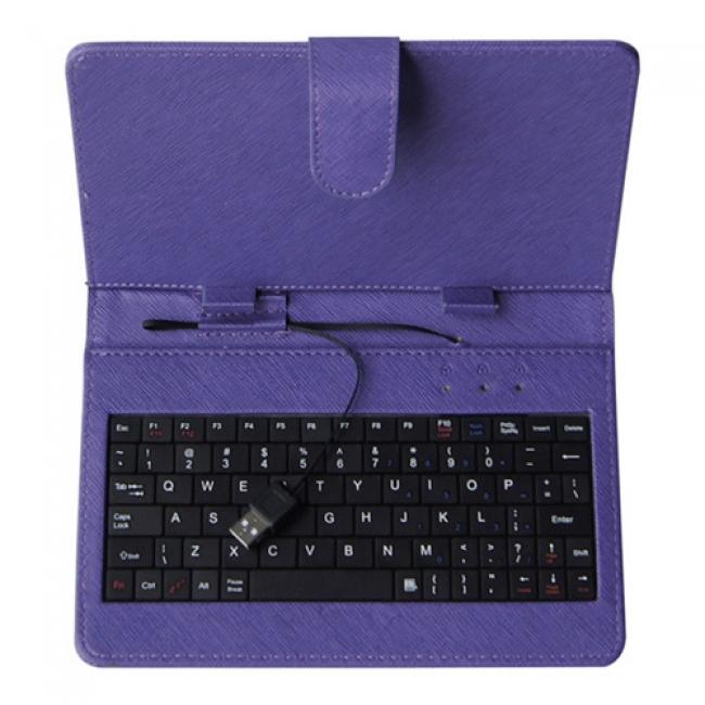 Калъф с клавиатура за таблет 9 инча - USB - ЛИЛАВ