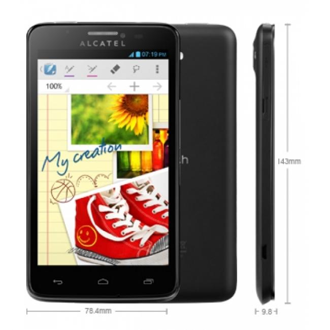 "Смартфон Alcatel Scribe Easy - 5"", Dual Sim, 3G, GPS, 2 камери"