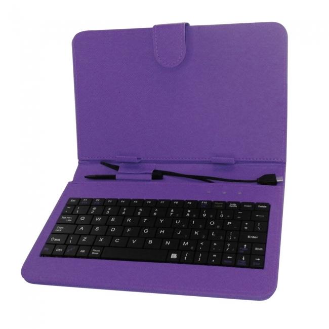 Калъф с клавиатура за таблет 9 инча micro USB - ЛИЛАВ