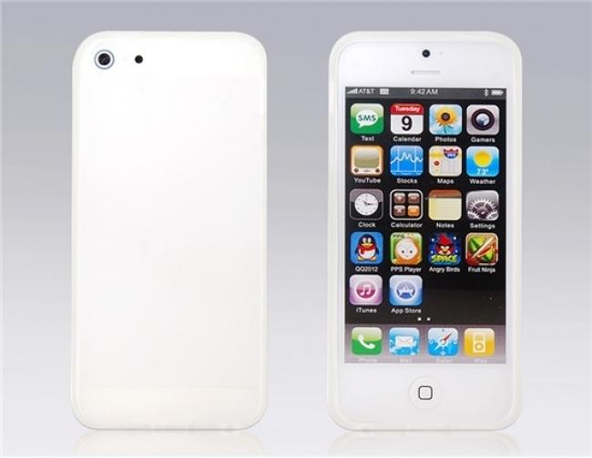 Бял матов силиконов калъф за iPhone 5/5s