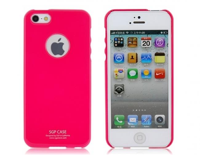 Пластмасов калъф SGP-case розов за iPhone 5/5s