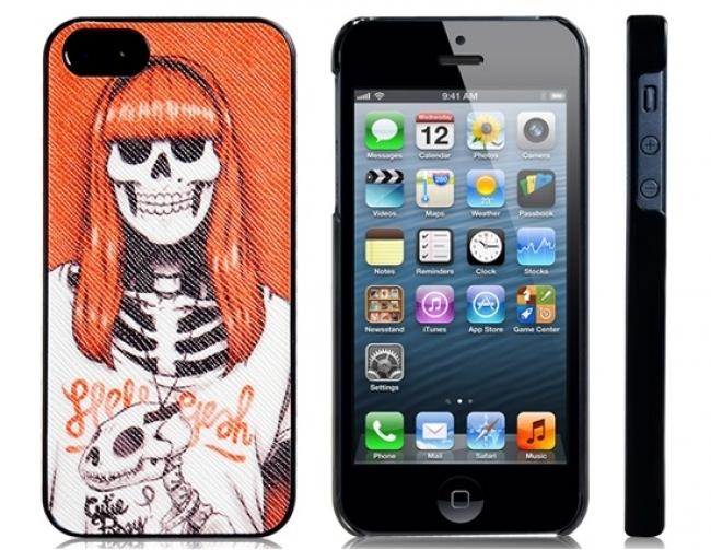 Пластмасов калъф за iPhone 5/5s с цветна апликация