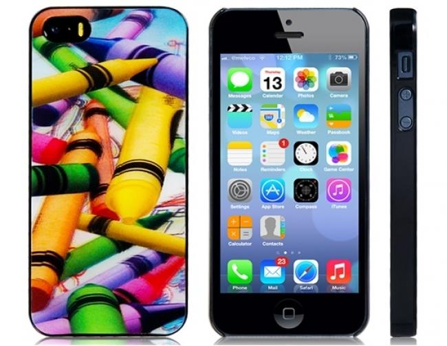 Пластмасов калъф за iPhone 5/5s 3D пастели