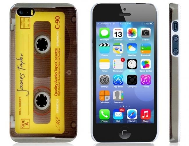 Пластмасов калъф за iPhone 5/5s ретро касетка
