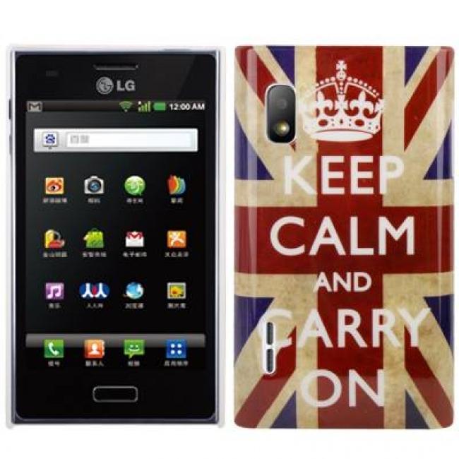 Пластмасов калъф за LG-L5 UK ЗНАМЕ