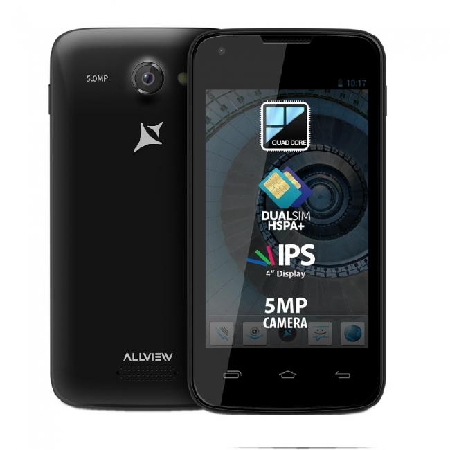 Смартфон Allview A6 Quad - 4 инча, 2 SIM, четириядрен