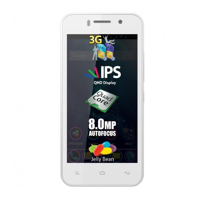 Смартфон Allview P5 Quad - 4.5 инча, 2 SIM, четириядрен