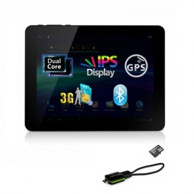 "3G GPS Таблет Allview IPS 8"" + Цифрова телевизия + Функция телефон + 20GB"