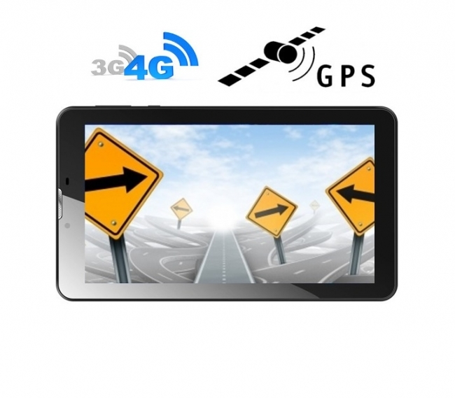 4G таблет GPS навигация с Android DIVA 7″, SIM, Quad Core, 1GB, 16GB