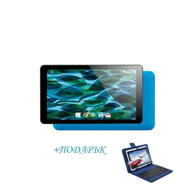 Промоция! Син таблет QuadColor Blue - 7 инча, 8GB + Калъф с клавиатура