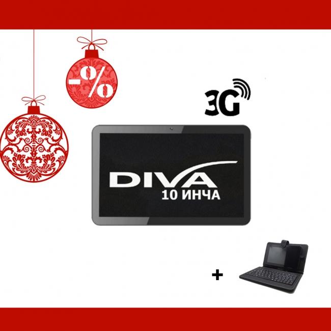 ПРОМОЦИЯ! Таблет Diva Premium 10.1 инча 3G GPS + КЛАВИАТУРА