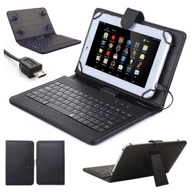"""Клавиатура за таблети 9.6 - 10.1"""" micro USB съвместим с модели Samsung Tab E, Tab А, Tab S"""