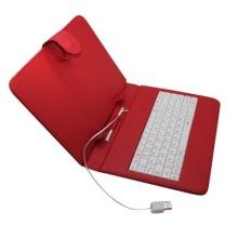"""Калъф с клавиатура за таблет 8"""" - USB - ЧЕРВЕН"""