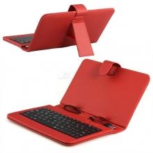 Калъф с клавиатура за таблет 9 инча - USB - ЧЕРВЕН
