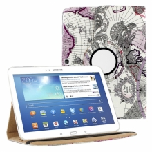 Кожен Калъф За Таблет Samsung Galaxy Tab 3 - 10.1 инча с географски мотиви