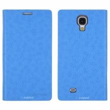 Кожен луксозен калъф за SAMSUNG S4 Син  тип папка KOMODO