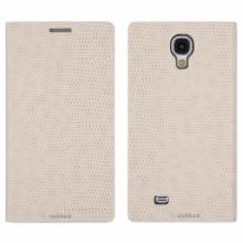 Кожен луксозен калъф за SAMSUNG S4 Бял тип папка KOMODO