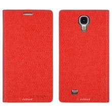 Кожен луксозен калъф за SAMSUNG S4 Чeрвен тип папка KOMODO
