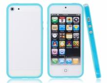Син силиконов бъмпер за iPhone 5/5s