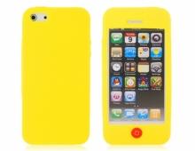 Жълт силиконов калъф за iPhone 5/5s