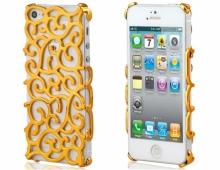 Пластмасов калъф златист за iPhone 5/5s
