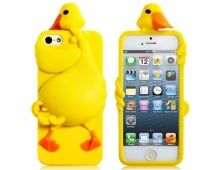 Силиконов калъф за iPhone 5/5s пате - жълт