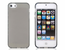 Пластмасов калъф за iPhone 5/5s тъмно прозрачен