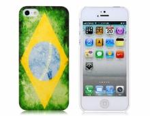 Пластмасов калъф за iPhone 5/5s знаме на BRAZIL