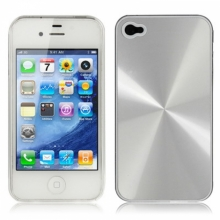 Пластмасов калъф за iPhone 4/4s алуминиев ефект