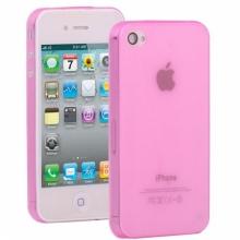 Пластмасов калъф за iPhone 4/4s розов