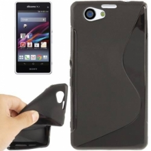 Силиконов калъф за Sony Xperia Z1f - Z1 mini черен