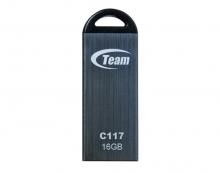 Флаш памет TEAM 16GB, сива, водоустойчива