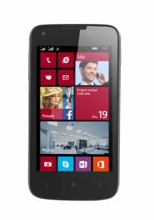 Смартфон PRESTIGIO MultiPhone PSP8400DUO BLACK - 4 инча, Windows 8.1, 2 SIM