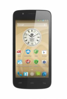 "Смартфон PRESTIGIO MultiPhone PSP5453 DUO WHITE - 4.5"", 2 СИМ, 4ядрен - БЯЛ"