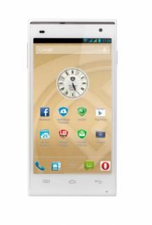 "Смартфон PRESTIGIO Multiphone PSP5505 DUO WHITE - 5"", 2 СИМ, четириядрен - БЯЛ"