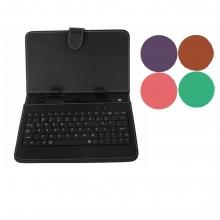 """Калъф с клавиатура за таблет 9"""" micro USB - розов, червен, лилав, бял"""