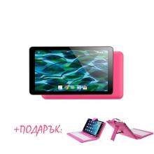 Промоция! Розов таблет QuadColor Pink 7 инча, 8GB + Калъф с клавиатура