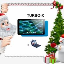 Промоция! Таблет син TURBO-X Rubik Blue 7 инча, 8GB + Калъф с клавиатура