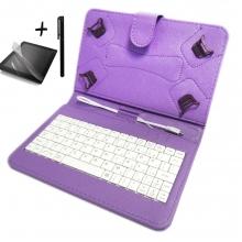 Калъф с клавиатура TabLux за таблети 7 и 8 инча, лилав, с протектор и писалка