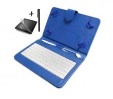 Калъф с клавиатура TabLux за таблети 7 и 8 инча, синя, с протектор и писалка